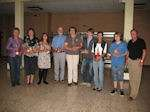 Mitgliederversammlung 2011 - die geehrten Mitglieder mit den 1. Vorsitzenden