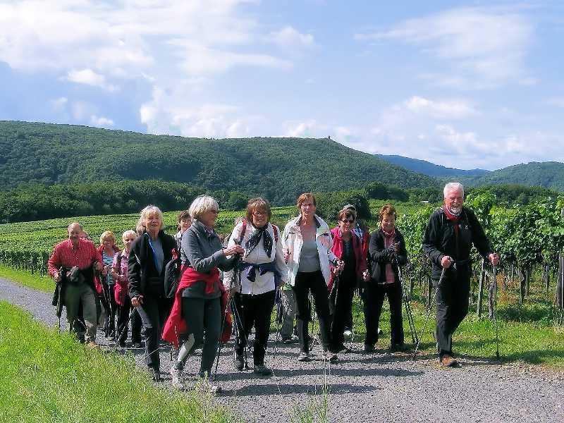 Die Teilnehmer der Nordic Walking Tour