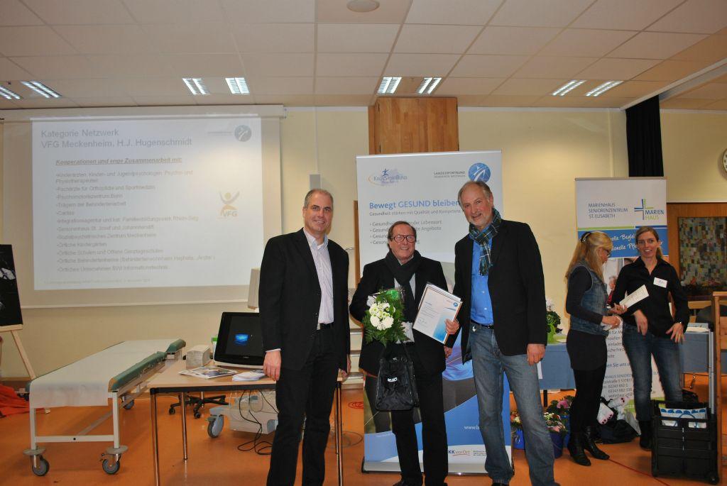 """Ehrung in der Kategorie """"Netzwerk"""" für den VFG Meckenheim, vertreten durch Hans-Jürgen Hugenschmidt (1. Vorsitzender)"""