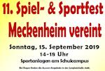 Meckenheim vereint - 11. Spiel- & Sportfest