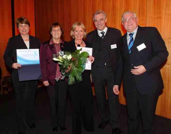 von links nach rechts: Bärbel Dittrich (Vizepräsidentin LSB), Jutta Kopper (Vors. Frauenbeirat LSB), Eva-Maria Hugenschmidt, Werner Stürmann (Abteilungsleiter Innenministerium NRW), Hans-Peter Schmitz (Beauftragter Integration LSB)